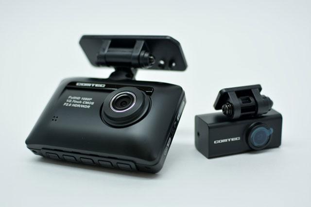コムテック ZDR-015 フロントカメラとリアカメラ