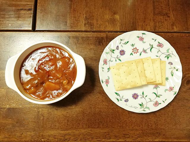 キューピー ジャネフ クリアスルー JB3食セット 昼食:ビーフシチュー、クラッカー