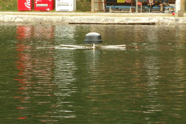 平谷湖フィッシングスポット ポンドに設置されているリプル