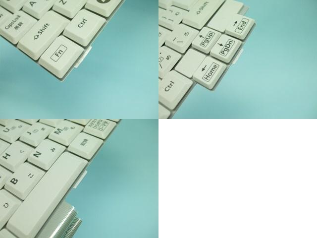 Panasonic Let's note CF-N10 キーボード下側にある3箇所のツメ
