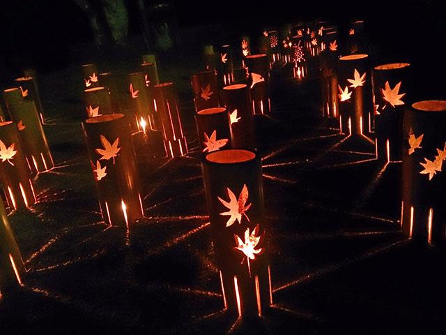 竹灯りの香積寺