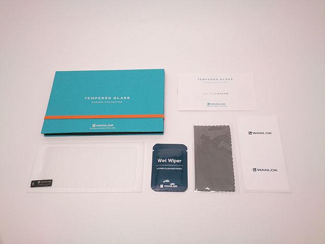 WANLOK 液晶保護ガラスフィルム_付属品の内容