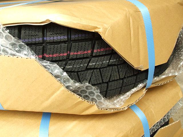 AUTOWAY(オートウェイ)から届いたスタッドレスタイヤの梱包状態