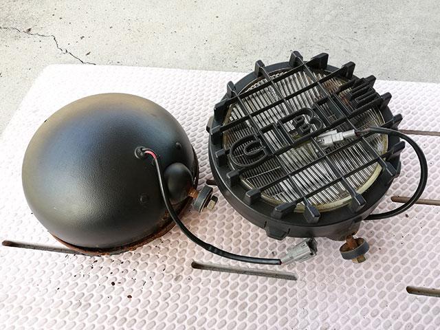 トヨタ ランドクルーザー プラド(KZJ78W)から取り外したCIBIEのフォグランプ